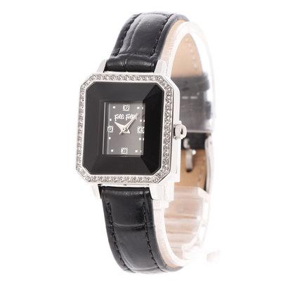 フォリフォリ Folli Follie STYLE PRISMA レクタングラーレザーベルトウォッチ/腕時計 (ブラック)