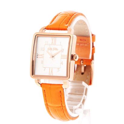 フォリフォリ Folli Follie RETRO TIME レザーベルトウォッチ/腕時計 (オレンジ)