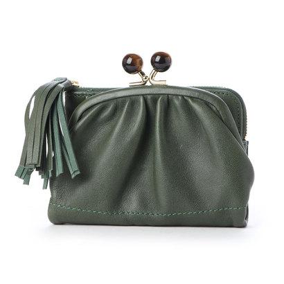 【セール】 ペルケ perche ジェムストーンがま口二つ折り財布 (グリーン), JOCOSA 8fef467a