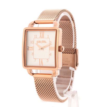フォリフォリ Folli Follie RETRO TIME メッシュベルトウォッチ/腕時計 (ピンクゴールド)