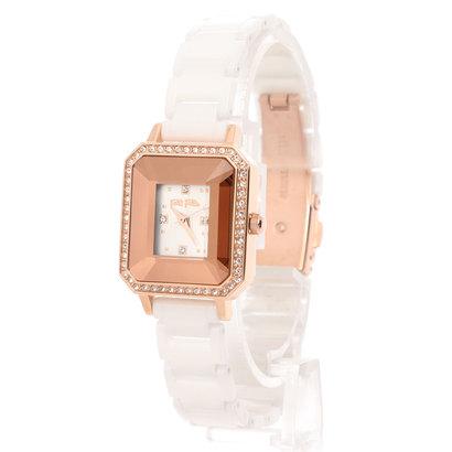 フォリフォリ Folli Follie STYLE PRISMA レクタングラーセラミックウォッチ/腕時計 (ホワイト)
