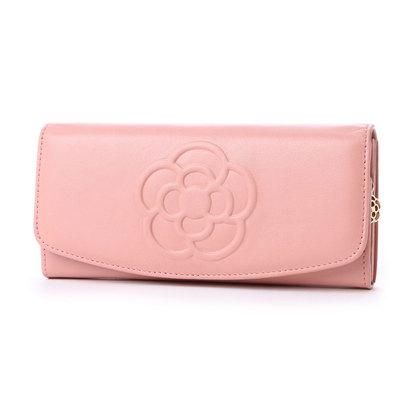 クレイサス CLATHAS ワッフル フラップ長財布 (ピンク)