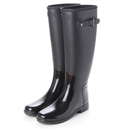 【アウトレット】ハンター HUNTER WOMENS REFINED TALL GLOSS DUO (BLK)