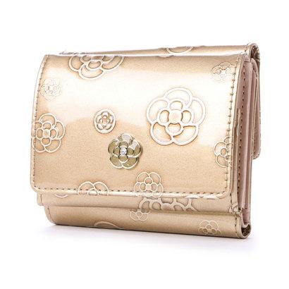 クレイサス CLATHAS アルゴ 三つ折り財布 (ゴールド)