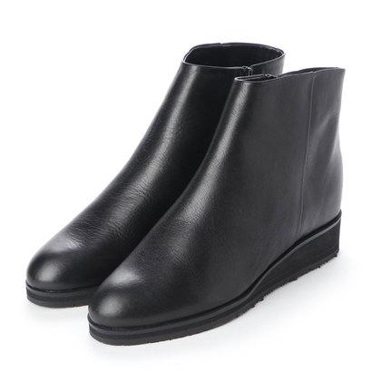 【アウトレット】ヒップス HIPS 【防滑ソール】レザーショートブーツ (ブラック)