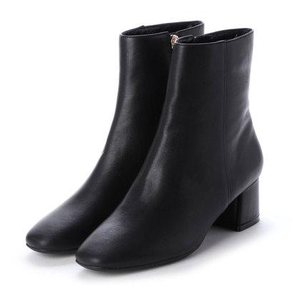 あす楽 交換 高級品 返品可能 激安通販販売 ダニエラアンドジェマ DaniellaGEMMA レディースシューズ ロコンド スクエアトゥショートブーツ ブーツ ブーティ ブラック
