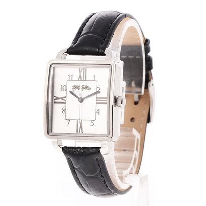 フォリフォリ Folli Follie RETRO TIME レザーベルトウォッチ/腕時計 (ブラック)