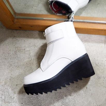 ヨースケ YOSUKE 本革ショートブーツ (ホワイト)