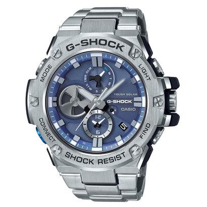 【G-SHOCK】G-STEEL(Gスチール) / クロノグラフ&スマートフォンリンク / GST-B100D-2AJF (ブルー×シルバー)