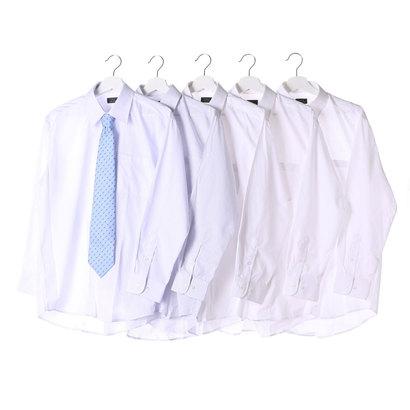 フランコ コレツィオーニ FRANCO COLLEZIONI 銀座・丸の内のOL100人が選んだワイシャツ&ネクタイセット(ホワイト系)