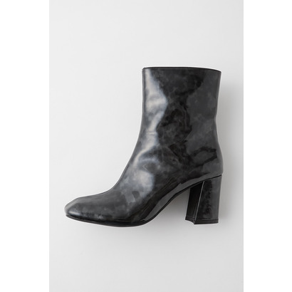 マウジー moussy SQUARE TOE MIDDLE BOOTS (柄ブラック)