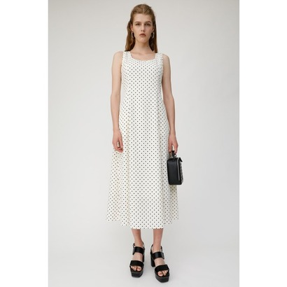 マウジー moussy POLKA DOT DRESS (ホワイト)