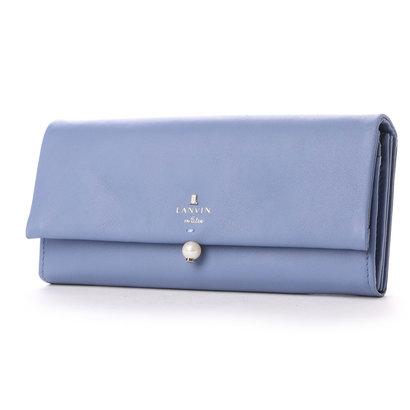 ランバン オン ブルー LANVIN en Bleu シャペル フラップ長財布 (ブルー)