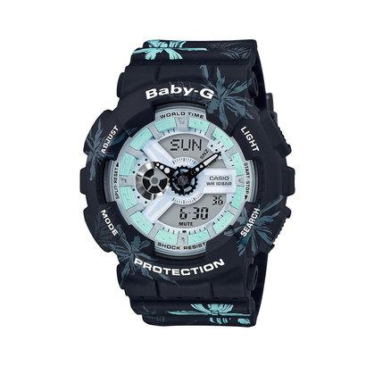 【BABY-G】SUMMER FLOWER PATTERN / BA-110CF-1AJF (ブラック×ブルー)