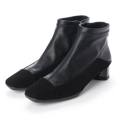 【アウトレット】フィットフィット fitfit ヒールニーカーストレッチブーツ (ブラック)