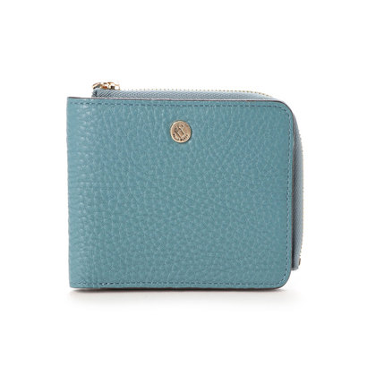 ペレボルサ PELLE BORSA 2つ折財布 (ブルーグレー)