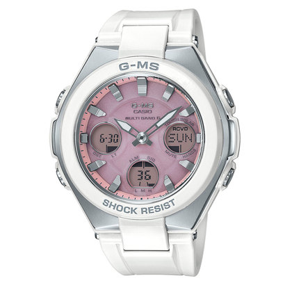 【BABY-G】G-MS(ジーミズ) / 電波ソーラー / MSG-W100-7A3JF (ホワイト×ピンク)