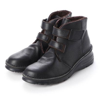 ジェイエスハートレーベル JS HEART LAVEL 軽量ショートブーツ (ブラック)