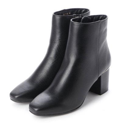 【アウトレット】ダニエラアンドジェマ Daniella&GEMMA メタルラインスクエアトゥショートブーツ (ブラック)