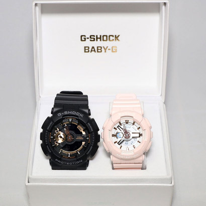 【G-SHOCK&BABY-G】Pair Model / Rose Gold Series GA-110RG-1AJF × BA-110RG-4AJF(ブラック×ピンク)