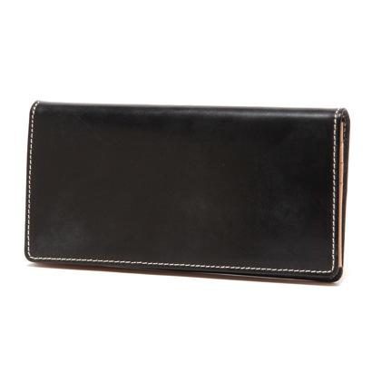 ブリティッシュグリーン BRITISH GREEN レザー長財布(ブラック)
