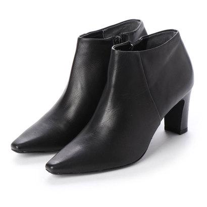 【アウトレット】メルモ MELMO ポインテッドトゥショートブーツ (ブラック)