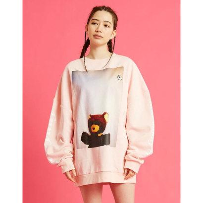 リトルサニーバイト little sunny bite photo big sweater (PINK)