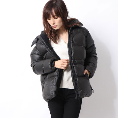 【アウトレット】ハンター HUNTER W ORI A-LINE PUFFER JACKET (BLK)
