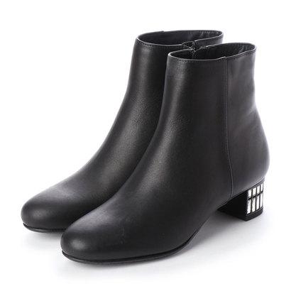 アンリーフ UnReef ビジューヒールショートブーツ (ブラック)