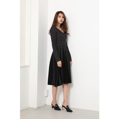 リエンダ rienda Chain Pattern Knit OP (ブラック)