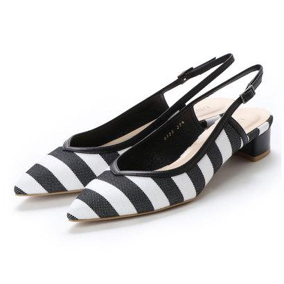 【アウトレット】アンタイトル シューズ UNTITLED shoes バックバンドパンプス (ブラックファブリックコンビ)