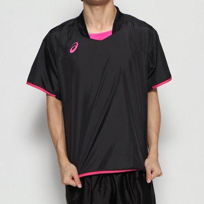 あす楽 交換 返品可能 アシックス ASICS 人気ブランド多数対象 買物 バレーボール 半袖Tシャツ 2053A056 asics ロコンド ハンソデウォームアップシャツ バレーボールウェア