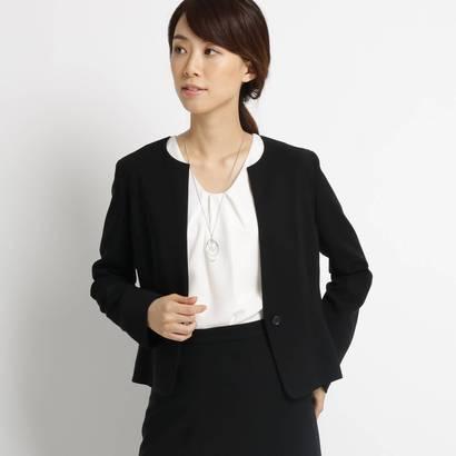アンタイトル UNTITLED 【洗える】トリアセートネオクロス カラーレスジャケット (ブラック)