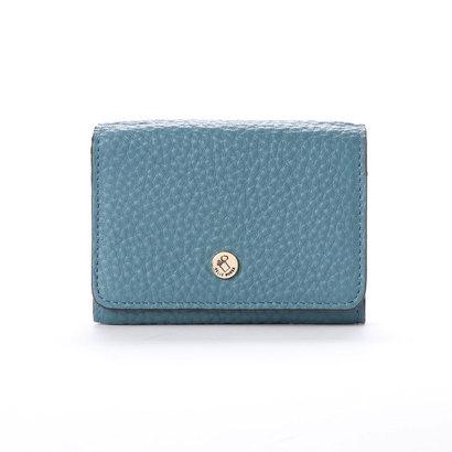 ペレボルサ PELLE BORSA 3つ折財布 (ブルーグレー)