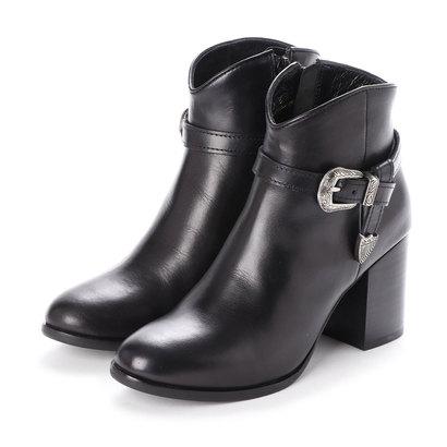 リ アンド デュウル Re_& Dur プレミアムレザー ベルトデザイン ブーツ (ブラック)