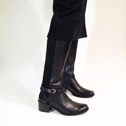 【アウトレット】アシナガオジサン あしながおじさん ストレッチロングブーツ (ブラックコンビ)