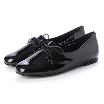 クートゥーフォロワーシューズ KuToo Follower Shoes ジェンダーフリー外羽根レースアップシューズ (エナメルブラック)