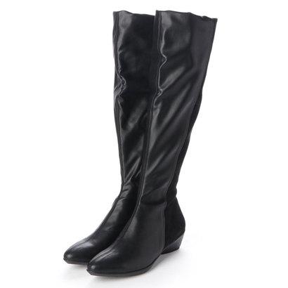 【アウトレット】フィットフィット fitfit ストレッチフィットロングブーツ (ブラック)