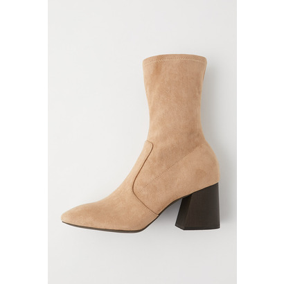 マウジー moussy STRETCH FAUX SUEDE BOOTS (ライトベージュ)