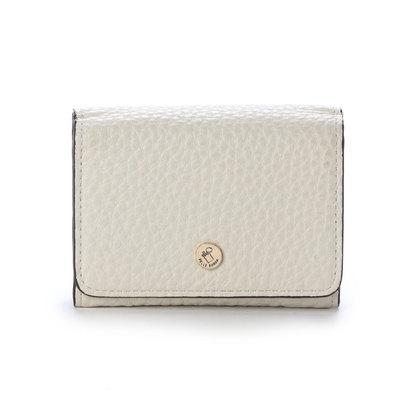 ペレボルサ PELLE BORSA 3つ折財布 (ホワイト)