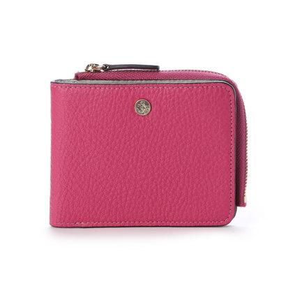 ペレボルサ PELLE BORSA 2つ折財布 (ピンク)