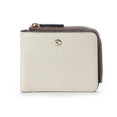 ペレボルサ PELLE BORSA 2つ折財布 (ホワイト)
