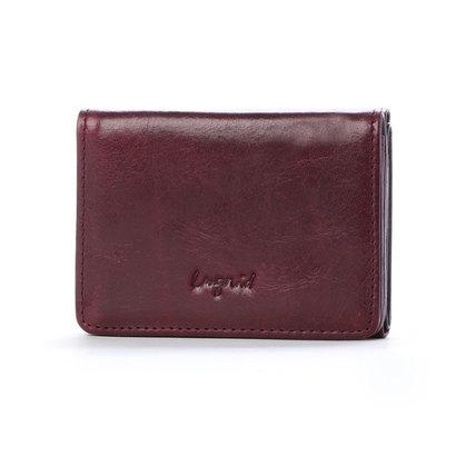 アングリッド Ungrid イタリア製牛革三つ折りミニ財布 (WIN)