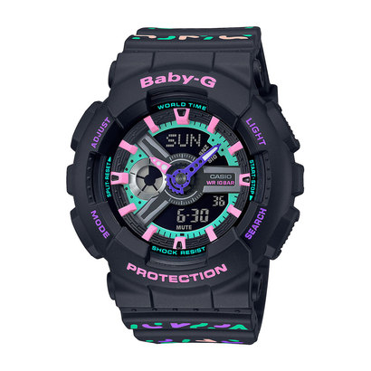 【BABY-G】Geometric Pattern / BA-110TH-1AJF / ベビーG (ブラック)