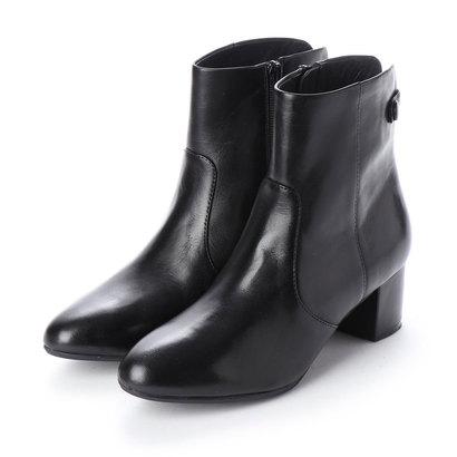 あす楽 交換 返品可能 ピッティ Pitti レディースシューズ 送料無料(一部地域を除く) ショートブーツ ロコンド 全品送料無料 ブーティ ブーツ ブラック