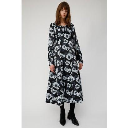 マウジー moussy MONOTONE FLOWER DRESS (ブラック)