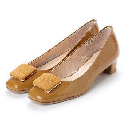 【アウトレット】アンタイトル シューズ UNTITLED shoes スクエアモチーフパンプス (マスタードエナメル)