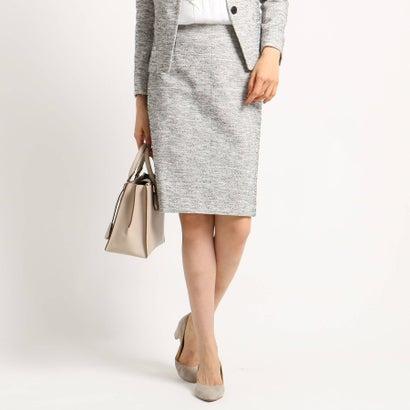 インディヴィ INDIVI 【ママスーツ/入学式 スーツ/卒業式 スーツ】ツィーディージャージタイトスカート (ホワイト)