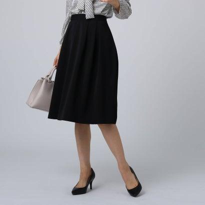 アンタイトル UNTITLED [L]【洗える】ソフィアライトツイルフレアスカート (ブラック)