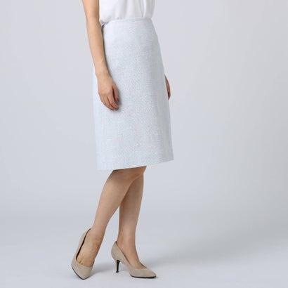 アンタイトル UNTITLED [L]ソフィアネオツイード台形スカート (ライトグレー)